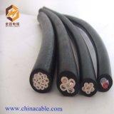 Cabo de fio elétrico de cobre isolado PVC do núcleo 35mm2 95mm do cabo 4