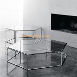 (SD-5004)現代ホテルのレストランの居間の家具のガラスコーヒーテーブル