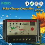controlador solar do trabalho 20A 30A PWM de 12V 24V 48V auto