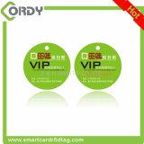 Grand dos fait sur commande estampé de forme de taille/cartes rondes de PVC d'IDENTIFICATION RF avec le trou