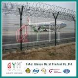 Загородка авиапорта провода бритвы верхней части загородки ячеистой сети загородки службы безопасности аэропорта