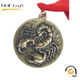亜鉛合金の金張り賞メダルによって印刷されるYm1166