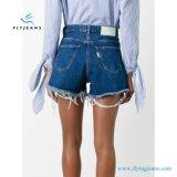 Shorts novos da sarja de Nimes de Minipants da impressão das mulheres do projeto