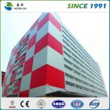 Entrepôt à plusiers étages préfabriqué de bureau d'atelier de structure métallique