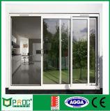 Precio de la puerta deslizante de aluminio con el vidrio doble