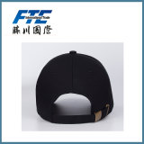 Gorra de béisbol llana negra con bordado o la impresión