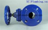 A válvula assentada resiliente da porta Din3352-F4/F5 flangeou haste não de aumentação da extremidade