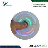 Shell cristalino del más nuevo de la manera de la persona agitada del hilandero del dedo del hilandero hilandero de la mano con la luz colorida del LED