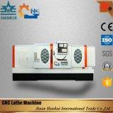 Maquinaria del torno del CNC de la base plana de la alta calidad con el oscilación máximo de 200m m sobre diapositiva