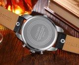 Cagarny 6819 empujadores de múltiples funciones de la caja de la plata del reloj del Mens y pequeñas diales