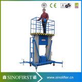 elevatore dell'elevatore dell'uomo di funzionamento della lega di alluminio di 6m-12m