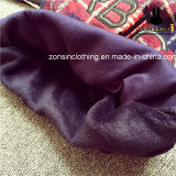 Überprüfte (mit Samt) lange Hülsen-Pullover-Strickjacke