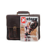 Шальной мешок портфеля компьтер-книжки кожи лошади для бизнесменов