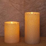 Bougie d'intérieur sans flammes romantique chaude du pilier DEL de configuration pour les pièces maîtresses à la maison de Tableau de décoration