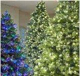 9フィートの前Litの狭いところのオーガスタのマツ金属の立場(MY100.099.00)が付いている人工的なクリスマスツリー