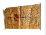 3 strati del sacco di carta del Brown, il sacchetto del Kraft, sacchetto del Libro Bianco per alimentazione, cemento, hanno messo