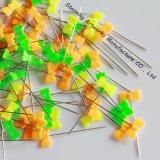 편평한 활 모양 다중 색깔 40mm 플라스틱 꿰매는 헤드 Pin를 포장하는 플라스틱 상자