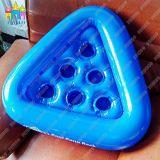 Il supporto gonfiabile della cremagliera della tazza della bevanda della bevanda del PVC di Finego galleggia dalla fabbrica