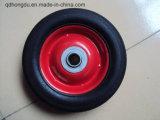 """8 """" 손수레 트롤리를 위한 단단한 고무 바퀴"""