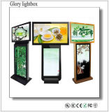 Reproductor móvil de pantalla LED interior de doble lado para publicidad