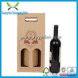 Niedriger Preis-kundenspezifischer gewölbtes Papier-Wein-Kasten mit Griff