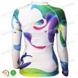 Swimwear Lycra предохранения от Upf 50+ втулки женщин длинний туго приспособленный