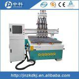 Маршрутизатор CNC вырезывания Atc цилиндра 4 головок деревянный