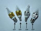 LED 초 빛 E14 전구 (HTY-E14-C3W)