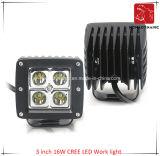 Luz del coche del LED 3 de la luz del trabajo del CREE LED de la pulgada 16W para la luz campo a través de la luz del coche LED de SUV y de conducción del LED