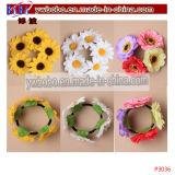 Hairband Stirnband-Taufen-elastische Blumen-Blumenhaar-Schmucksachen (P3035)