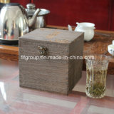 Подгонянная коробка подарка коробки твердой древесины сбор винограда деревянная
