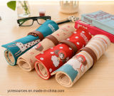 Large Capacity Canvas Contracted Coils Pencil Bags