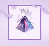 Caixa de presente doce dos produtos creativos do casamento, caixa de presente dos doces do estilo da pirâmide