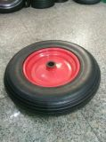 Trolley Wheel Pneumatic Tire Air Rubber Wheel 400-8