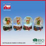 El globo eléctrico LED de la nieve del recuerdo de la Navidad de Polyresin enciende ciervos lindos