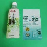 Etiqueta plástica do Shrink para a embalagem engarrafada da bebida