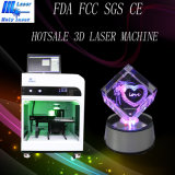 La mejor pequeña máquina 2016 de grabado cristalina del laser del regalo del CNC 3D de la venta Hsgp-4kb