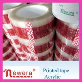 印刷されたロゴの単一の味方された付着力および耐熱性機能安い習慣BOPP包装テープ