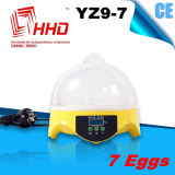 CE Automatic Small Mini Chicken Egg Incubator para 7 Eggs