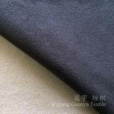Tessuto di cuoio 100% del poliestere della pelle scamosciata di timbratura di oro con la protezione del panno morbido