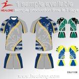 Camisa llena del club del rugbi de la sublimación del precio de fábrica de Healong