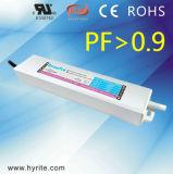 Excitador constante elevado magro do diodo emissor de luz da tensão da fonte de alimentação PF0.9 da modalidade do interruptor do tamanho do CV de Hyrite 12V 10W IP67 com o Bis SAA Saso TUV de RoHS do Ce