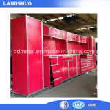 Garage/Kitchen vermelhos Used Metal Cabinet com Drawers e cacifos