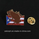 Ferro feito sob encomenda emblema macio carimbado do animal do esmalte