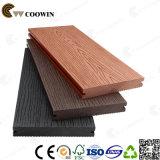 Decking di plastica resistente al fuoco del composto WPC di legno solido di prezzi di fabbrica