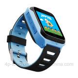 A tela de toque colorida da forma caçoa o relógio do perseguidor do GPS com lanterna elétrica