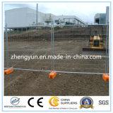 Cerca temporária galvanizada portátil para o local de construção