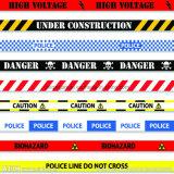 カスタマイズ可能な字体の探索可能な警告テープ