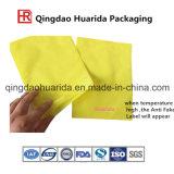Levantarse el bolso plástico que se puede volver a sellar del acondicionamiento de los alimentos de la cremallera del paquete