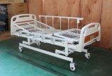 Cama de hospital manual das manivelas do certificado três do CE (SK-MB102)